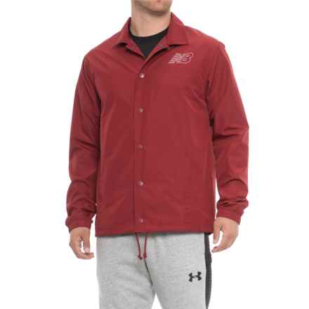 New Balance Classic Coaches Jacket (For Men) in Scarlet - Closeouts