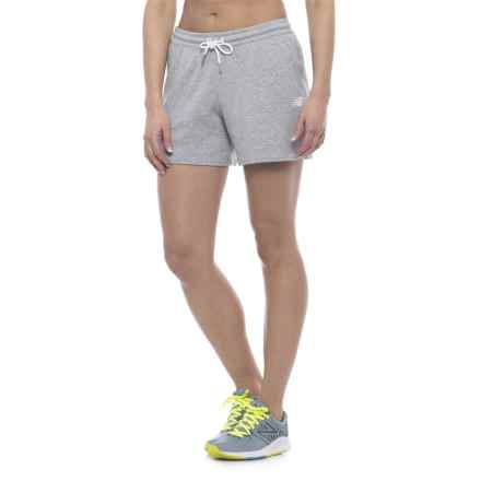 New Balance Classic Fleece Shorts (For Women) in Athletic Grey - Closeouts