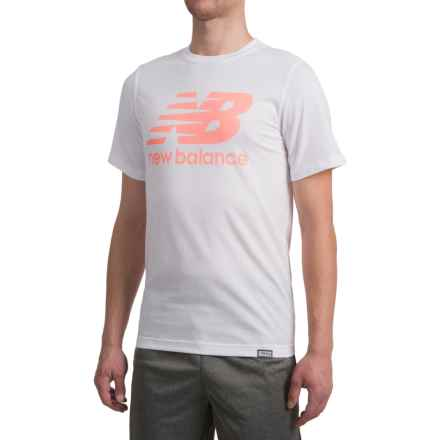 New Balance Classic Logo T-Shirt - Short Sleeve (For Men) in Cosmic Coral - Closeouts