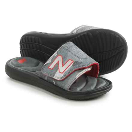 New Balance Classic Slide Sandals (For Little and Big Kids) in Black/Grey - Closeouts