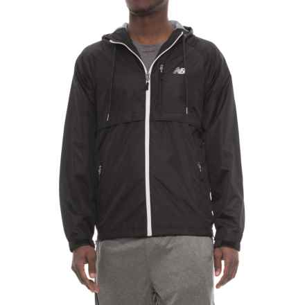 New Balance Coated Mini Ripstop Jacket (For Men) in Bk001 Black - Closeouts