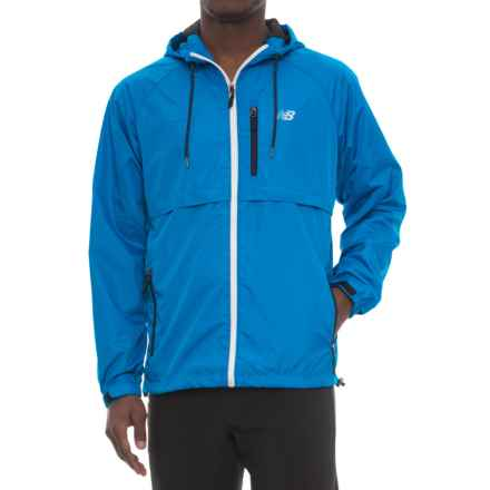 New Balance Coated Mini Ripstop Jacket (For Men) in Laser Blue - Closeouts