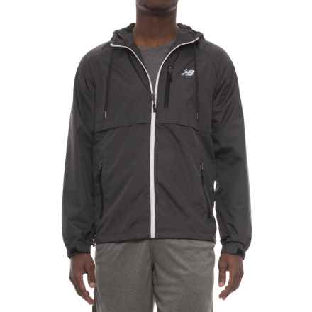 New Balance Coated Mini Ripstop Jacket (For Men) in Magnet - Closeouts