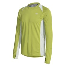 New Balance Cocona® Shirt - Long Sleeve (For Men) in Turtle Green/Moonstruck - Closeouts