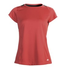 New Balance Cocona® Shirt - Short Sleeve (For Women) in Cayenne/Black - Closeouts