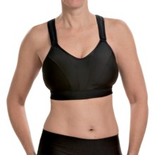 New Balance Comfy Conformer Sports Bra - High Impact, Racerback (For Women) in Black - Closeouts