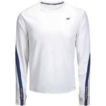 New Balance Competitor Shirt - MegaHeat®, Long Sleeve (For Men) in White/Limoges - Closeouts