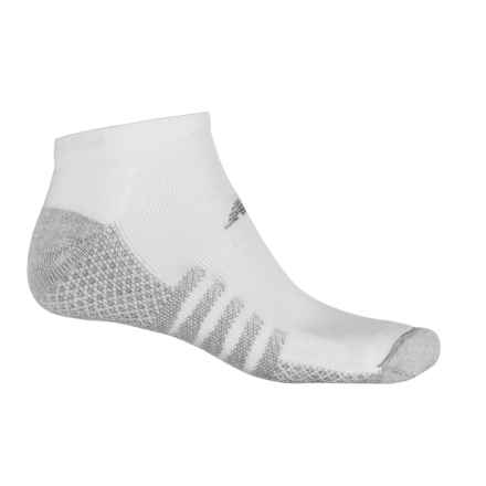 New Balance CoolMax® No-Show Socks - 2-Pack, Below the Ankle (For Men) in White/Grey - Closeouts