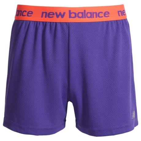 New Balance Core Bike Shorts (For Big Girls) in Purple/Orange