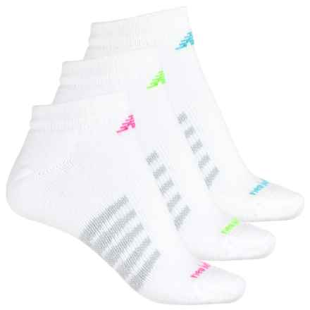 New Balance Core Cotton Socks - 3-Pack, Ankle (For Men and Women) in White - Closeouts
