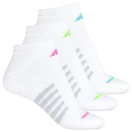 New Balance Core Cotton Socks - 3-Pack, Ankle (For Men and Women) in White
