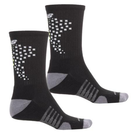 New Balance Core Performance Socks - 2-Pack, Crew (For Men) in Black/Lime