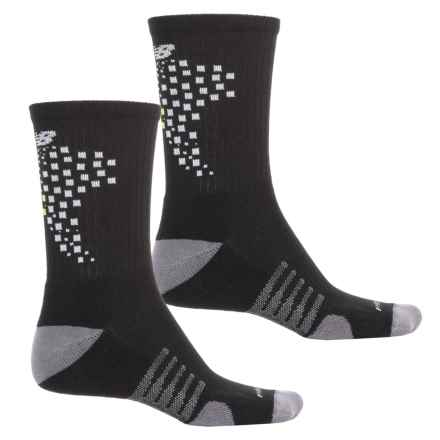 New Balance Core-Performance Socks - 2-Pack, Crew (For Men) in Black - Closeouts