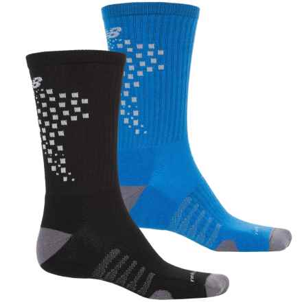 New Balance Core-Performance Socks - 2-Pack, Crew (For Men) in Blue/Black - Closeouts