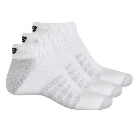 New Balance Core-Performance Socks - 3-Pack, Below the Ankle (For Men) in White