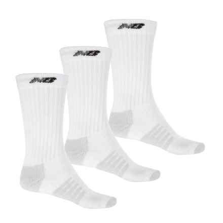 New Balance Core Running Socks - 3-Pack, Crew (For Men) in White - 2nds