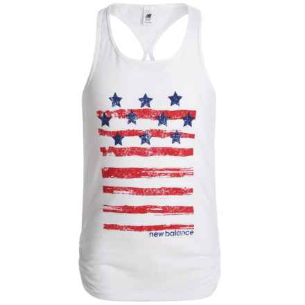 New Balance Core Stars and Stripes Tank Top (For Big Girls) in White - Closeouts