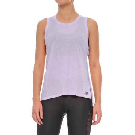 New Balance Cotton-Modal Tank Top (For Women) in Cosmic Heather - Closeouts