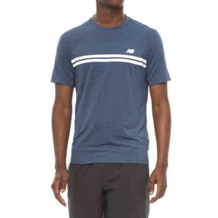 New Balance Court Shirt - Short Sleeve (For Men) in Vintage Indigo - Closeouts