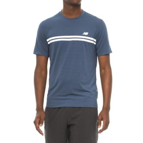 New Balance Court Shirt - Short Sleeve (For Men) in Vintage Indigo