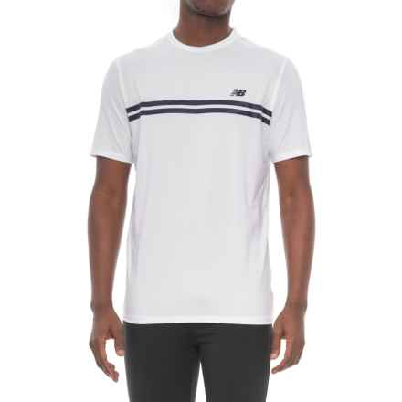 New Balance Court Shirt - Short Sleeve (For Men) in White - Closeouts