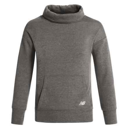New Balance Cowl Neck Sweatshirt (For Big Girls) in Heather Grey - Closeouts