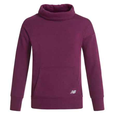 New Balance Cowl Neck Sweatshirt (For Big Girls) in Mulberry - Closeouts