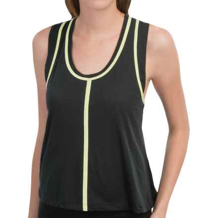 New Balance Crop Racerback Tank Top (For Women) in Black - Closeouts