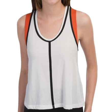 New Balance Crop Racerback Tank Top (For Women) in White - Closeouts