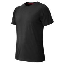 New Balance Cross Run T-Shirt - Short Sleeve (For Men) in Black - Closeouts