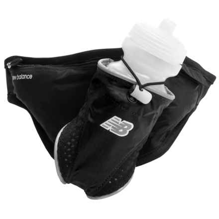 New Balance Crush 1-Bottle Hydration Belt in Black - Closeouts