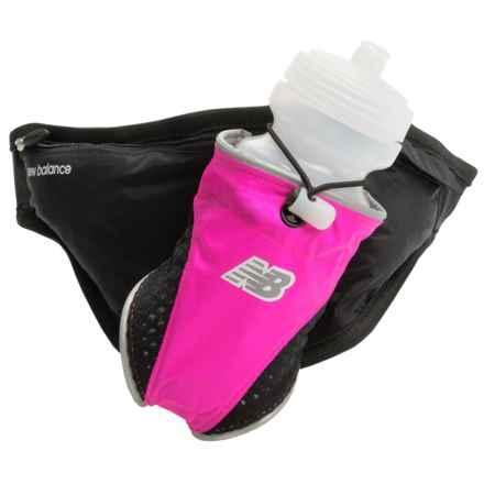 New Balance Crush 1-Bottle Hydration Belt in Pink/Black - Closeouts