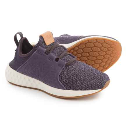 New Balance Cruz Cross-Training Shoes - Slip-Ons with Laces (For Women) in Elderberry/Silver Mink - Closeouts