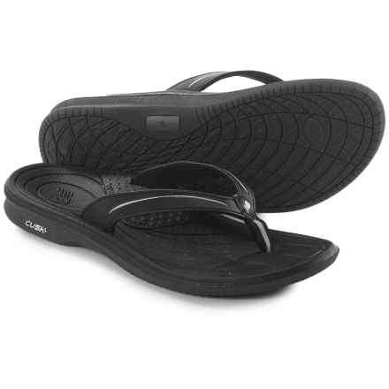 New Balance Cush Flip-Flops (For Women) in Black/Grey - Closeouts