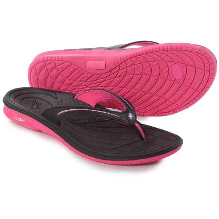 New Balance Cush Flip-Flops (For Women) in Black/Knockout Pink - Closeouts