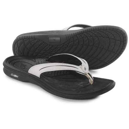 New Balance Cush Flip-Flops (For Women) in Black/White - Closeouts