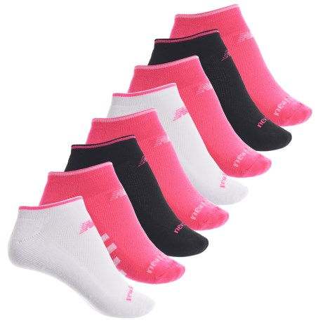 New Balance Cushioned Athletic Socks - 8-Pack, Below the Ankle (For Women) in Pink/White/Black