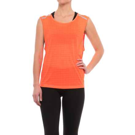 New Balance D2D Run Mesh Tank Top (For Women) in Sunrise - Closeouts