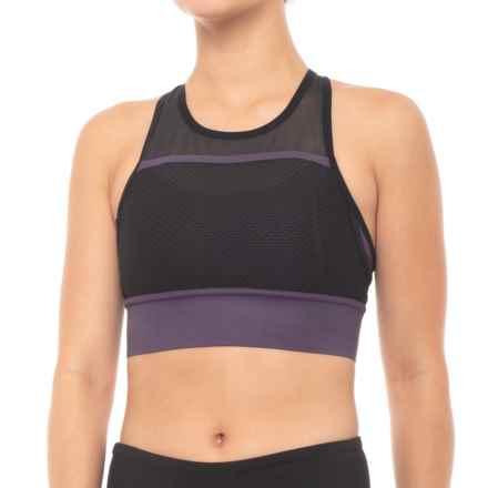 New Balance Determination Sports Bra - Medium Impact (For Women) in Elderberry - Closeouts