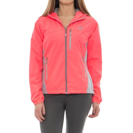 New Balance Dobby Jacket (For Women) in Guava/Silver Mink, Silver Mink Mesh/Pullers