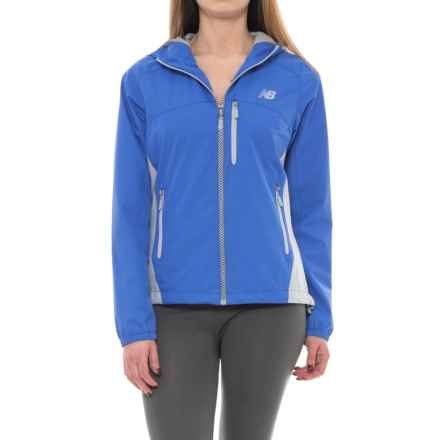 New Balance Dobby Jacket (For Women) in Mariana Blue/Silver Mink, Silver Mink Mesh/Pullers - Closeouts