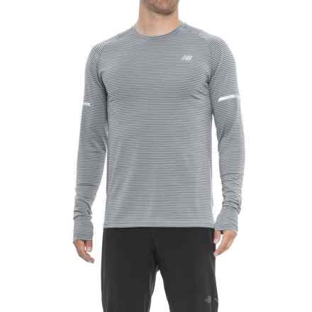 New Balance easonless Shirt - UPF 40+, Long Sleeve (For Men) in Athletic Grey Multi - Closeouts