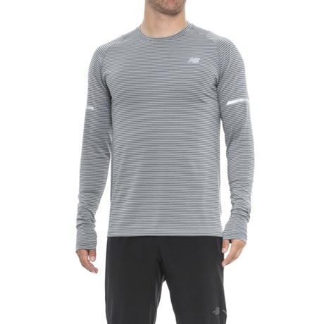 New Balance easonless Shirt - UPF 40+, Long Sleeve (For Men) in Athletic Grey Multi