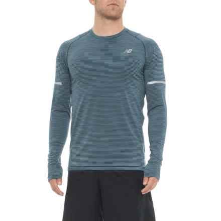 New Balance easonless Shirt - UPF 40+, Long Sleeve (For Men) in Blue - Closeouts