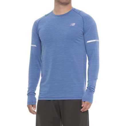 New Balance easonless Shirt - UPF 40+, Long Sleeve (For Men) in Vivid Cobalt Heather - Closeouts