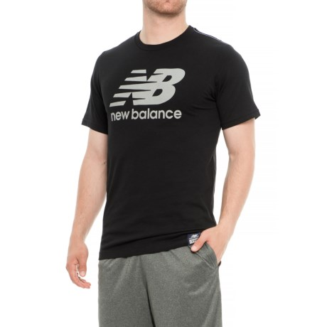 New Balance Essential Plus Logo T-Shirt - Short Sleeve (For Men) in Black