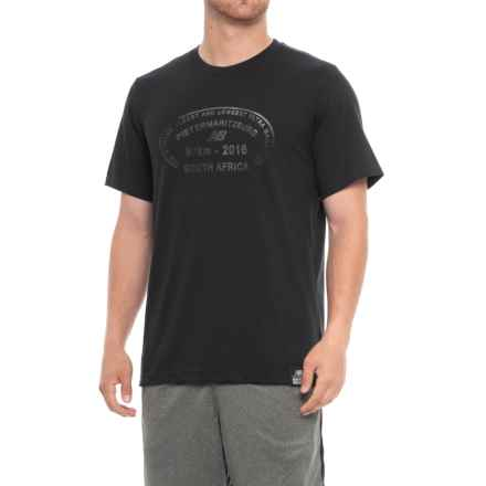 New Balance Essential Plus Logo T-Shirt - Short Sleeve (For Men) in Black - Closeouts
