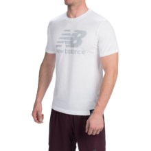 New Balance Essential Plus Logo T-Shirt - Short Sleeve (For Men) in White - Closeouts