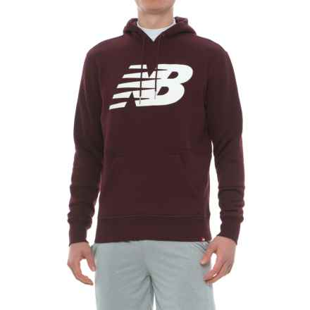 New Balance Essentials Hoodie (For Men) in Chocolate Cherry - Closeouts