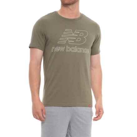 New Balance Essentials Landing Running T-Shirt - Short Sleeve (For Men) in Covert Green - Closeouts